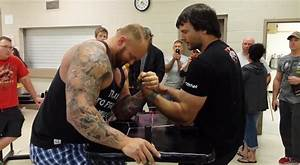 An Arm Wrestling Champion Vs  One Of The Strongest Men In The World