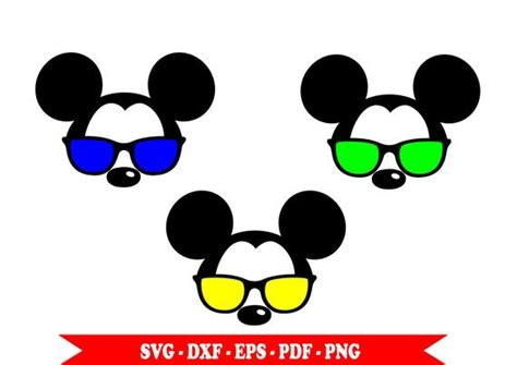 Large collections of hd transparent mickey mouse png images for free download. Mickey Mouse with SVG sunglasses head face clip art in SVG