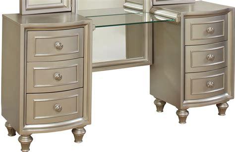 silver vanity desk regency park pearlized silver vanity desk b00481 vl vr 2227