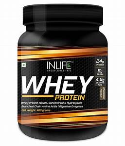 Inlife Whey Protein Powder Supplement Chocolate Flavor 400 Gm  Buy Inlife Whey Protein Powder