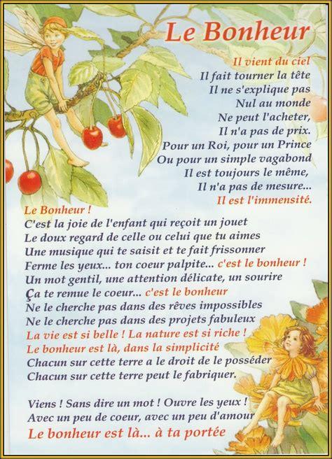 poeme sur le bonheur