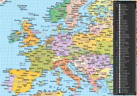 Latitude Map Of Europe.Grid Map Europe And Latitude Longitude
