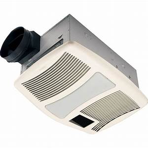 Nutone qtxn series very quiet 110 cfm ceiling exhaust fan for Best quiet bathroom exhaust fan