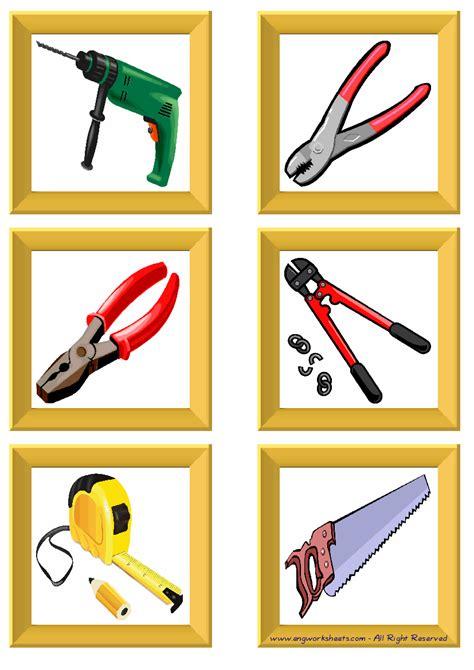hand tools esl printable english flash cards worksheets
