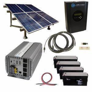 12 Volt Solar Systems With Ground Mounted Solar Panel Rack