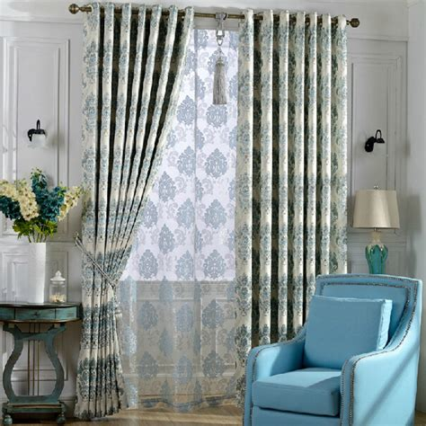 decorative thick fabric blackout curtain for bedroom room