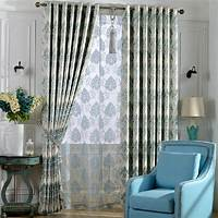 curtains for bedroom Decorative Thick Fabric Full Blackout Curtain For Bedroom Room