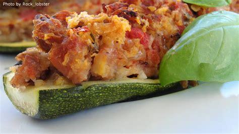 Stuffed Zucchini Boats Allrecipes by Stuffed Zucchini Recipes Allrecipes