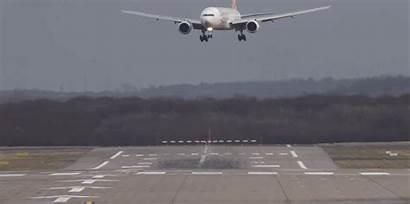 Landing Planes Boeing Animated Crosswind Gifs Airport