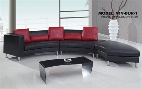 chaise color e contemporary s curved sectional sofa with contrasting