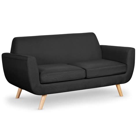 canapé 2 places 160 cm canapé 2 places scandinave quot miramas quot 160cm noir