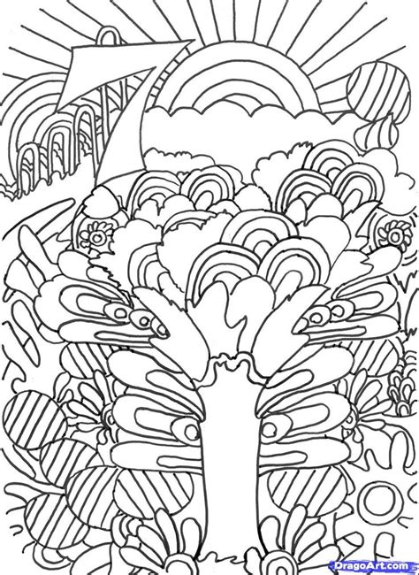 trippy coloring pages   draw trippy art trippy art