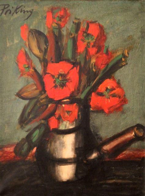 la chambre de gogh priking et kvapil deux tableaux de fleurs vente aux