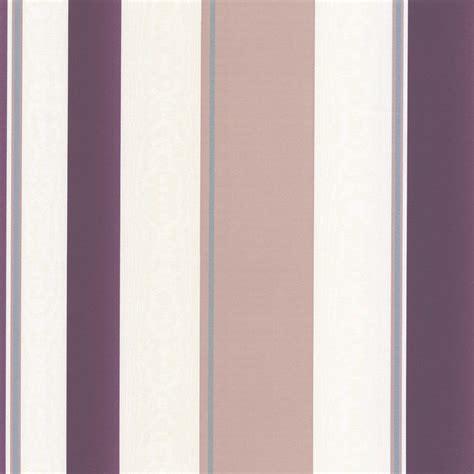 erismann poppy striped wallpaper purple cream taupe   wallpaper   love