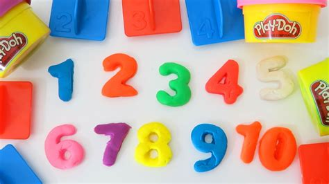 play doh learn to count with play dough numbers letters n