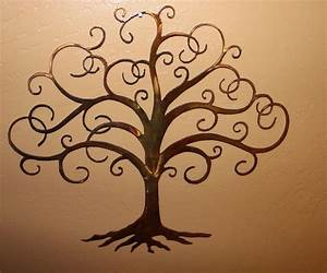 swirled tree of life 30quot tall metal wall art decor by hgmw With tree of life wall decor