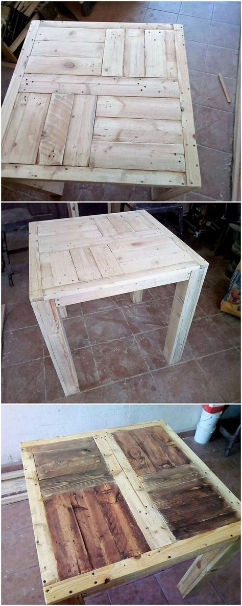 diy recycled pallet table step  step plan wooden