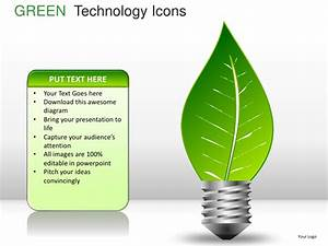 Green technology icons powerpoint presentation templates