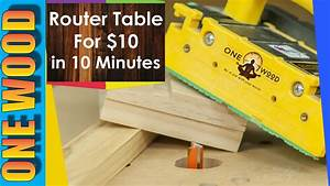 How to build a router table for Woodworking for under $10