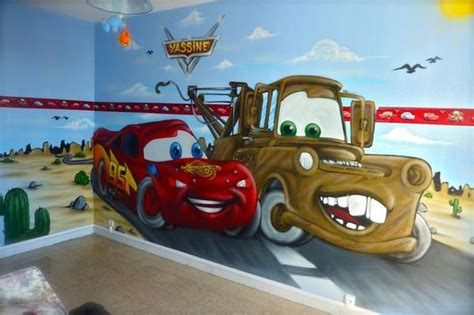 chambre cars disney de decorationgraffiti de decorationgraffiti