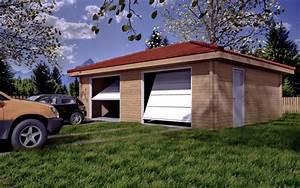 Garage Voiture En Bois : garage en bois ~ Dallasstarsshop.com Idées de Décoration