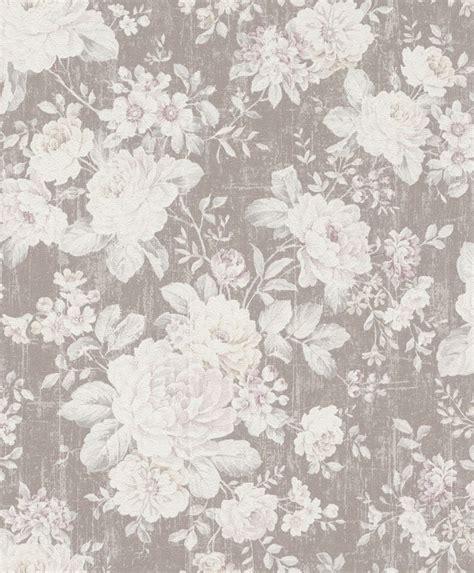 Rasch Tapete Blumen by Vliestapete Rasch Blumen Vintage Hellbraun Creme 516005