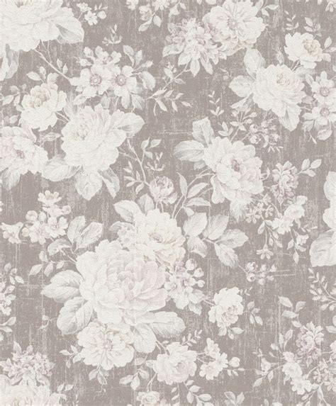 Tapeten Vintage Look by Vliestapete Blumen Vintage Uni Tapeten Rasch Kombinierbar