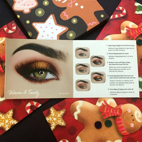 faced gingerbread spice eye shadow palette  gingerbread man gingerbread girl melted