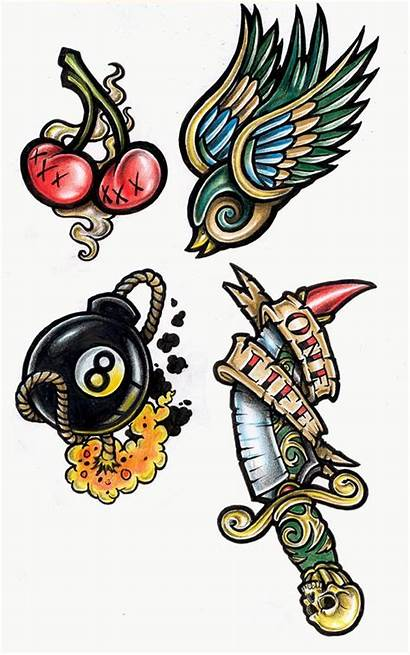 Tattoo Tattoos Designs Modern Ruin Flash Cards