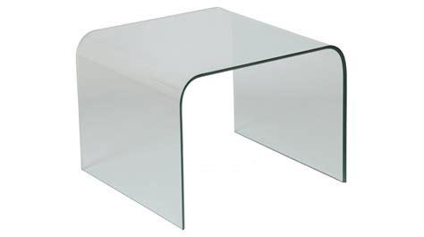 table bout de canapé en verre design bout de canapé design verre courbé carré table basse en