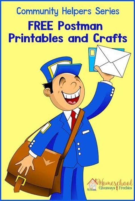 11541 community helpers pictures printables community helper series postman printables and crafts