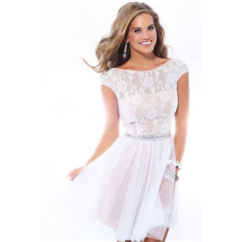 Lace White Cocktail Dress Dresscab