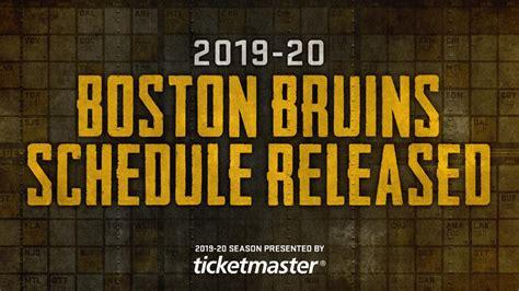 boston bruins regular season schedule released nhlcom