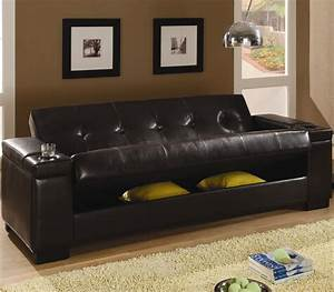 coaster faux leather convertible sofa sleeper with storage With convertible sectional storage sleeper sofa