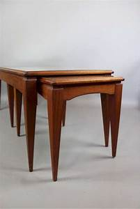 mid century teak nesting coffee tables sold art furniture With mid century nesting coffee tables