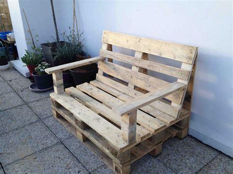 plan canapé bois fabrication canapé en palette