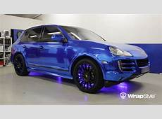 Porsche Cayenne Blue Chrome Wrap autoevolution