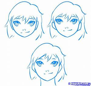 Simple Anime Faces - DRAWING ART IDEAS