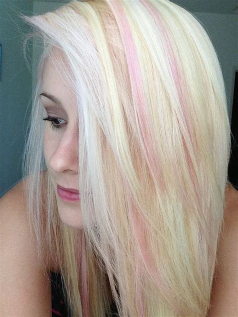 light pink highlights light pink highlights on hair this is