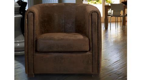 fauteuil cabriolet microfibre aspect cuir vieilli