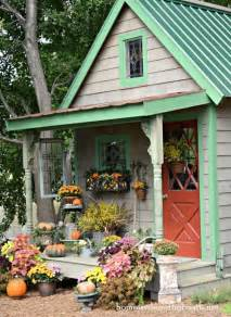 Decorative Shed Plans With Porch by Gorgeous Fall Porch Decor This Is Just The Potting Shed