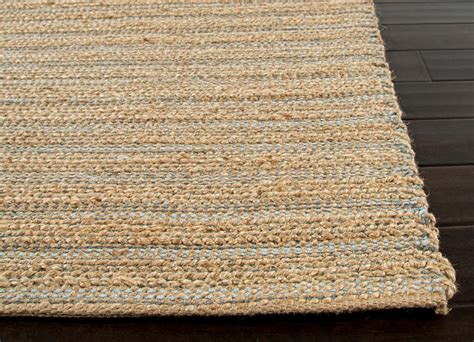 jute area rugs himalaya collection jute cotton area rug in beige blue