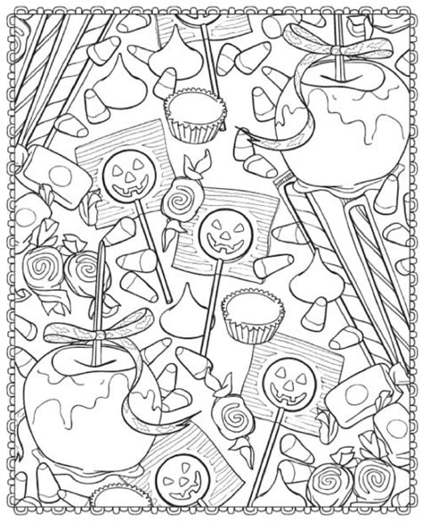 coloring page candy  printable halloween