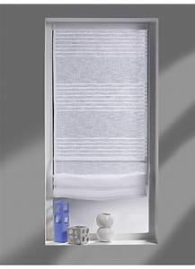 Kit Rayure Vitrage : store bateau avec rayures horizontales blanches blanc ~ Premium-room.com Idées de Décoration