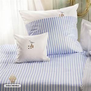 Bettwäsche Maritim 155x220 : lorena bettw sche maritim m we blau wei 155x220 cm 80x80 cm textilwelt24 ~ Markanthonyermac.com Haus und Dekorationen