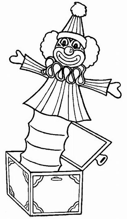 Box Jack Clown Coloring Sheet Pages Template