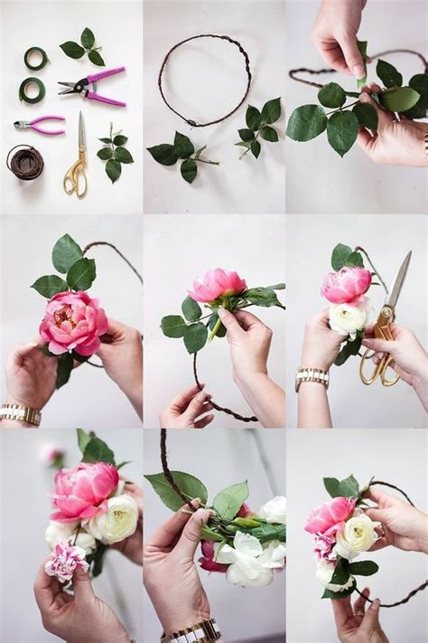 how to make a flower crown flower crown bar bridal shower how to diy wedding flowers