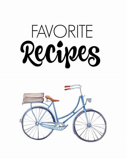 Recipe Covers Printable Recipes Binder Clipart Organize