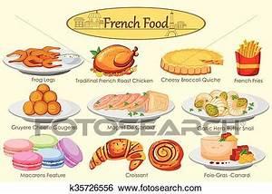 Französisches Essen Liste : clip art sammlung von k stlich franz sisches essen k35726556 suche clipart poster ~ Orissabook.com Haus und Dekorationen