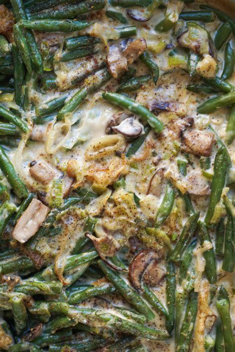 green bean casserole  tempura onion strings